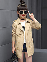 Girl's Casual/Daily Solid Suit & Blazer / Trench Coat,Cotton Spring / Fall Green / Pink / Red / Yellow