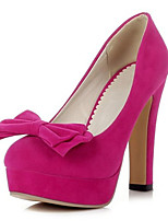 Women's Shoes Velvet the four seasons Heels / Platform / Basic Pump Heels Office & Career /Casual Chunky Heel