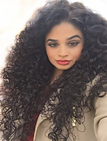 100% Unprocessed Brazilian Virgin Human Hair Natural Black Color Curly Full Lace Wigs With Baby Hair