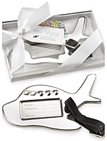 Groomsman / Groom Recipient Gifts - Airplane Travel Tag, Luggage Tag Wedding Favors