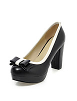 Women's Shoes Leatherette the four seasons  Heels / Platform / Basic Pump / Round Toe Heels Office & Career / Dress
