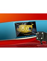 surveillance à double lentille / 5 pouces / enregistreur de disque / inversion image / parking / grand angle HD / vision nocturne