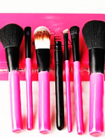 7 Makeup Brushes Set Goat Hair Portable Wood Face Others