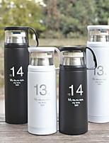 350 ml de acero inoxidable 1314&Copa de aislamiento de calor 520 con tapa transparente