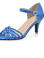 Women's Shoes PU Summer / Fall Heels Boots Dress / Casual Stiletto Heel Others Blue / Red / White