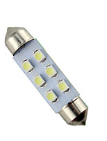 10pcs 41mm 6 SMD 3528 White Car Festoon Led Light High Bright(DC12V)