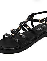 Women's Sandals Summer Sandals / Open Toe Microfibre Outdoor Flat Heel Others Black Others
