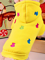 Dog Hoodie Red / Blue / Yellow / Gray Winter / Spring/Fall Solid / Animal Casual/Daily Dog Clothes / Dog Clothing-Other