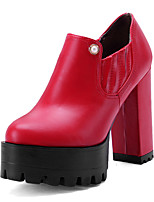 Women's Shoes Spring / Fall Heels / Platform / Round Toe Heels Outdoor / Casual Chunky Heel OthersBlack