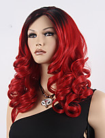 Capless European and American Fashion 1B/Red Curly Medium Wigs Cosplay Synthetic Wigs