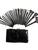 32pcs Makeup Brushes Set Horse / Synthetic Hair Portable Wood Face ShangYang(Brush Package)