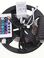 5м 16.4ft 300x5630 RGB SMD LED Гибкие светодиодные полосы света + RGB + AC100-240V контроллеры питания