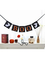 Halloween Boo Banner with Ghost Halloween Party Pennant Flag Banner Bunting Decoration