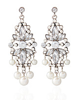 Pearl and Alloy Drop Earrings Fashionable Earrings Wedding/Party 1 pair