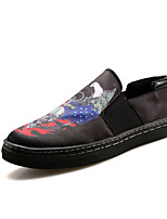 Men's Flats Spring / Fall Comfort / Round Toe Fabric Casual Flat Heel Slip-on Blue / Red / White / Light Green Walking