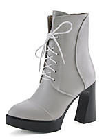 Women's Boots Spring / Fall / Winter Platform / Fashion Boots / Combat Boots Leatherette Outdoor /Casual Chunky Heel
