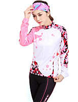 Sports® Cycling Jersey with Tights Women's Long Sleeve Breathable / Thermal / Warm / Windproof / Anti-Eradiation / Comfortable / Sunscreen