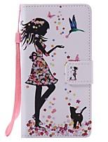 На все тело бумажник / Визитница / с подставкой Мультфильмы Искусственная кожа жесткий Для крышки случая HuaweiHuawei P9 / Huawei P9 Lite
