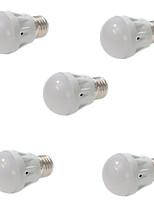 5 E26/E27 Ampoules Globe LED A60(A19) 13 SMD 5730 400LM lm Blanc Chaud / Blanc Froid Gradable / Décorative AC 100-240 V 5 pièces