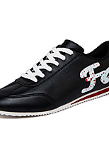 Men's Sneakers Spring / Fall Comfort PU Casual / Athletic Flat Heel Lace-up Black / Red / White Sneaker