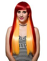 el gradiente de pelo largo, la moda de las pelucas.