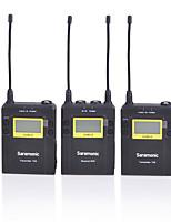 uwmic9 Dual-Sendern UHFdrahtloses Lavalier-Mikrofon-System für DSLR-Kameras&Camcorder