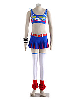 Ispirato da Lollipop Chainsaw A sbuffo Video gioco Costumi Cosplay Abiti Cosplay Monocolore Blu / Rosa Senza manicheMaglia / Gonna /