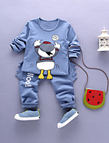 Boy's Casual/Daily Print Clothing Set,Cotton Fall Blue / Green / Purple / Red