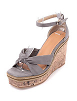 Women's Sandals Summer Sandals Leatherette Outdoor Wedge Heel Others Black / Gray Others