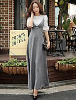Linea A / Tubino / Swing Vestito Da donna-Per uscire / Casual / Ufficio Vintage / Boho / Sofisticato Tinta unita / A strisceCon