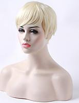 монолитным короткие прямые белая женщина парик парики из синтетических волос