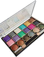 18 Palette de Fard à Paupières Lueur Fard à paupières palette Poudre Compact NormalMaquillage Quotidien / Maquillage d'Halloween /