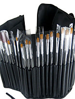 34 Makeup Brushes Set Synthetic Hair Professional / Full Coverage / Portable Wood Face / Eye / Lip With Cosmetic Bag