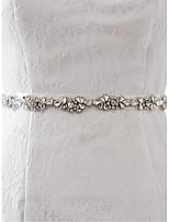 Saten Düğün / Parti/Gece / Günlük Kuşak-Boncuklar / Aplikler / Taşlı Kadın 98 ½inç(250cm) Boncuklar / Aplikler / Taşlı