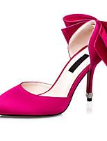Черный / Розовый / Фиолетовый / Красный / Серый-Женский-Свадьба / На каждый день / Для вечеринки / ужина-Шёлк-На шпильке-На каблуках / С