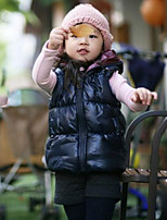 Girl's Casual/Daily Solid Vest,Polyester Winter / Spring / Fall Black