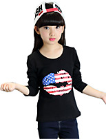 Girl's Wild Round Collar Casual/Daily Print Cotton Tee / T-shirt