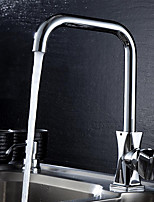 Contemporary Chrome Finish 360 Degree Rotation Single Handle Single Hole Dual Contral Kitchen Faucet