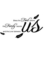 Bless Words & Quotes Wall Stickers PlaneFlowers Wall Stickers Decorative Wall Stickers,Vinyl Material  Decals