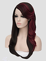 Europe and the United States Straight Selling Foreign Trade Black BUG Mix Color in Long Synthetic Wigs