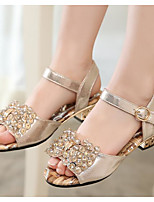 Girl's Sandals Summer Sandals Leather Outdoor / Casual Low Heel Others Gold Others