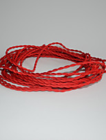 (100 m/Lot) Antique Braided Electrical Wire Vintage Lampes Pendant Light Wire DIY Accessories/Red