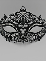 Sexy Venetian Mask Masquerade Rhinestone Laser Cut  Metal Party3003A1