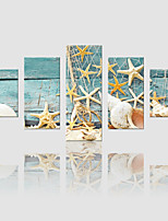 lienzo conjunto Paisaje Modern,Cinco Paneles Lienzos Vertical lámina Decoración de pared For Decoración hogareña