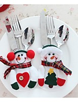 Birthday / Christmas Party Tableware-1Piece/Set Favor Bags Ribbons Canvas Classic Theme Other