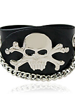 Bracelet/Leather Bracelets Alloy Skull Personality Daily / Casual Jewelry Gift Silver,1pc