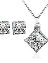 Jewelry Set Women's Anniversary / Wedding / Party / Daily / Special Occasion Jewelry Sets Silver Zircon