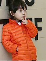 Piumino e giubbino di cotone Girl Casual Tinta unita Poliestere Inverno / Primavera / Autunno Nero / Blu / Arancione