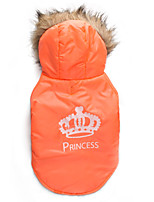 Katzen / Hunde Mäntel Orange Winter Tiaras & Kronen warm halten, Dog Clothes / Dog Clothing-DroolingDog