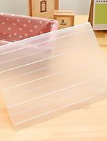A4 Zipper Storage Bag Environmental Transparent Matte Paper Bags Bills Storage Bag (Large Size)